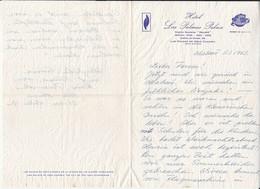 GRAN CANARIA- LAS PALMAS PALACE HOTEL HEADER STATIONERY, HAND WRITTEN LETTER,1965, SPAIN - Vecchi Documenti