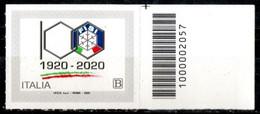Italia 2020 - Fisi Federazione Italiana Sport Invernali Codice A Barre MNH ** - Codici A Barre