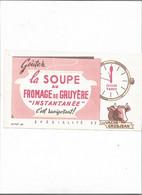 Buvard Ancien  La Soupe Au Fromage De Gruyère  Vache Grosjean - F