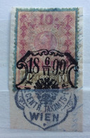 AUSTRIA  MARCA DA BOLLO - STEMPELMARK  10 H  - 1898 - Splendido Annullo - Fiscale Zegels