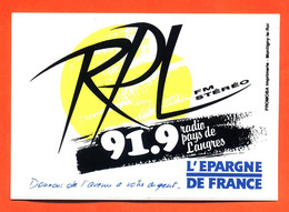 """Autocollant """" RPL FM Stéréo 91.9 Radio Pays De Langres """" - Stickers"""