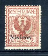 1912 NISIRO N.1 (*) Senza Gomma - Egeo (Nisiro)
