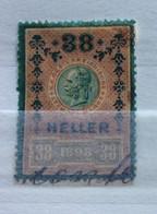 AUSTRIA  MARCA DA BOLLO - STEMPELMARK  38 H  - 1898 - - Fiscales