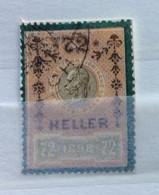 AUSTRIA  MARCA DA BOLLO - STEMPELMARK  72 H  - 1898 - - Fiscales