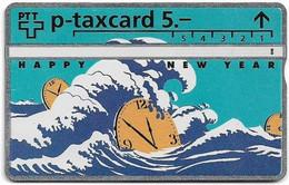 Switzerland - Swisscom (L&G) - KP Series - KP-93-166 - PAX Clock, Happy New Year - 310L - 10.1993, 5Fr, 5.300ex, Used - Schweiz