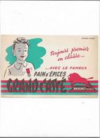 Buvard Ancien  Pain D'épices Grand Cassé - Gingerbread