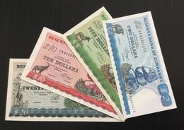 ZIMBABWE SET 2 5 10 20 DOLLARS BANKNOTES 1983-1994 UNC - Zimbabwe