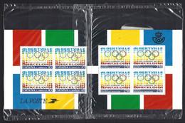 France Yv 2760-Espagne Yv 2808 Tous Blocs De 4 Sous Blister, émission Commune, Pays Olympiques 1992 - Emissioni Congiunte