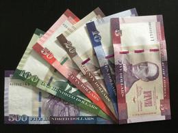 LIBERIA SET 5 10 20 50 100 500 DOLLARS BANKNOTES 2016-2017 UNC - Liberia
