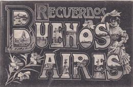 ARGENTINA - CARTOLINA - RECUERDOS BUENOS AIRES - Argentina