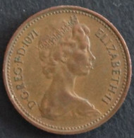 Grande-Bretagne - 1 New Penny - 1971 - 1902-1971 : Monete Post-Vittoriane