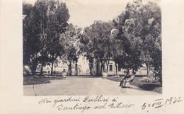 ARGENTINA - FOTOGRAFIA - CARTOLINA -  SANTIAGO DEL ESTERO - NEI GIARDINI PUBBLICI  - 1922 - Argentina