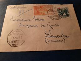Jolie Lettre Aff Madrid Adressée Duchesse De Guise à LARACHE MAROC TB - 1951-60 Briefe U. Dokumente