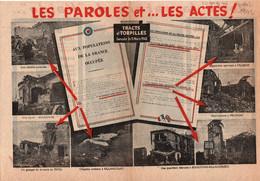 TRACT ANTI ALLIES 1942 BOMBARDEMENT RAF  PROPAGANDE ETAT FRANCAIS VICHY - 1939-45
