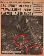 TRACT ANTI ALLIES BOMBARDEMENT USINE RENAULT  PROPAGANDE ETAT FRANCAIS VICHY - 1939-45