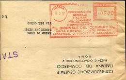 59602 Italia, Red Meter Freistempel Ema, 1957 Roma Il Giornale Del Commercio Agita E Difende I Vostri Problemi ! - Affrancature Meccaniche Rosse (EMA)