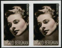 USA (2015) - Pair - IMPERF.  /  Joint Issue With Sweden - Ingrid Bergman - Cinema - Emissioni Congiunte