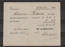 Allemagne 1887 Reçu Scolaire - Vecchi Documenti