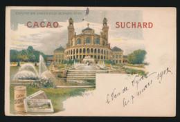 RECLAME   CACAO SUCHARD   EXPOSITION DE PARIS 1900   PALAIS DU TROCADERO - Pubblicitari