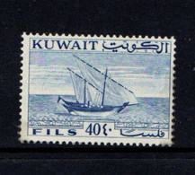 KUWAIT    1961    Dhow    40f  Blue    MH - Kuwait