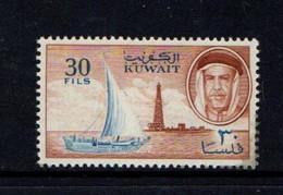 KUWAIT    1961    30f  Blue  And  Brown    MH - Kuwait