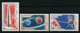 MAURITANIE 1964 PA N° 48/50 ** Neufs MNH Superbes C 5 € Astronautique Espace Space Fusée Diamant Satellite - Mauritania (1960-...)