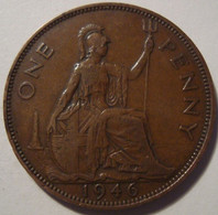 Grande-Bretagne - 1 Penny - 1946 - 1902-1971 : Monete Post-Vittoriane