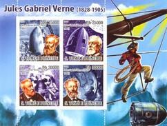 SAO TOME E PRINCIPE 2008 SHEET IN MEMORY JULES VERNE St8607a - Sao Tome En Principe