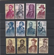 Espagne Lot De 12 Timbres Oblitérés - Conquérants De L'Amérique - Collections
