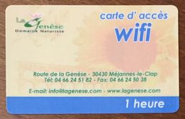 30 MÉJANNES LE CAP LA GENÈSE DOMAINE NATURISTE CARTE PASSMAN 1H PRÉPAYÉE PREPAID PAS TÉLÉCARTE PHONECARD - Prepaid-Telefonkarten: Andere