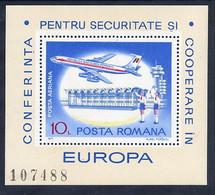 ROMANIA 1977 European Security Conference Block MNH / **.  Michel Block 143. - Ungebraucht