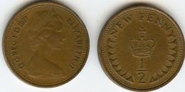 Grande-Bretagne - 1/2 New  Penny - 1971 - 1902-1971 : Monete Post-Vittoriane