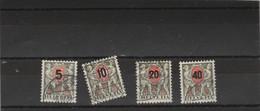 Suisse  Taxe Yvert  63 à 66 Oblitérés - Portomarken