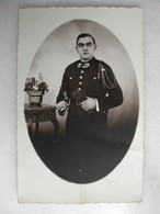 PHOTO - Militaria - Photo D'un Militaire En Uniforme (10 Au Col) - Guerra, Militares
