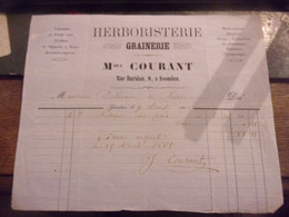 BERRY INDRE  ISSOUDUN 1861 HERBORISTERIE MME COURANT - 1800 – 1899