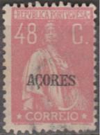 AÇORES-1930-1931, Tipo «CERES» Gravura Retocada. Selos Continente C/ Sobr. «AÇORES»  48 C. (o) Afinsa Nº 303 - Azoren
