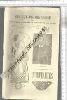 PG / Vintage // PROGRAMME THEATRE Ancien VARIETES @@  THEODOR ET CIE @@ CASSIVE // ART NOUVEAU - Programmes