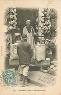 Algérie - Type De Marchand Arabe - Animée - Oblitération Ronde De 1903 - CPA - Voir Scans Recto-Verso - Scenes