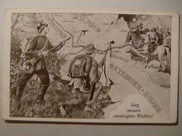 WWI.Lemberg.Map.Sieg Unsern Vereiniglen Waffen.Poland.Ukraine.Przemysl,Lublin,Lodz,Radom,Kalisz,Krakau,Stanislau,Warscha - Ukraine