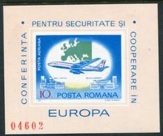 ROMANIA 1977 European Security Conference Block MNH / **.  Michel Block 143 - Ungebraucht