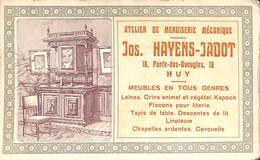 Huy - Atelier De Menuiserie Mécanique Jos. Hayens Jadot, Porte-des-Aveugles (Publicité Dos Nu) - Huy