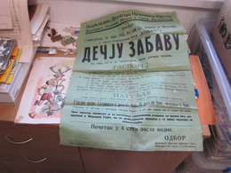 Old Poster Plakat Sremska Mitrovica Podmladak Drustva Crvenog Krsta  The Offspring Of The Red Cross Society 1926 - Serbia