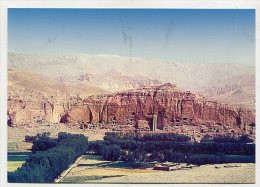 AFGANISTAN - AK197590 Bamian - Felswand Mit Buddhafiguren Und Mönchshöhlen Mitten Im Hindukusch - Afghanistan