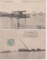 """Lot De 2 CPA Saint-Malo - Naufrage Du """"Hilda"""" (19 Novembre 1905) / Le Pont Roulant à Marée Haute - Saint Malo"""