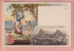 OUDE POSTKAART - ZWITSERLAND - SCHWEIZ - SUISSE -     REKLAME - SUCHARD - SION - VS Wallis