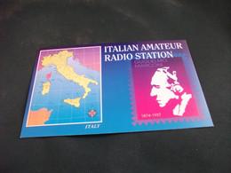 CARTA QLS ITALIAN AMATEUR RADIO STATION  G. MARCONI LIGURIA - Radio Amatoriale