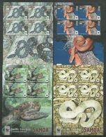 SAMOA - MNH - Animals - Reptiles - Snakes - WWF - Snakes