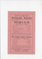 Mornimont - Brillante Soirée - Miriam - 1945 - Programmes