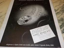 ANCIENNE PUBLICITE AGRANDISSEMENT DU MAGASIN  KIRBY.BEARD 1941 - Pubblicitari