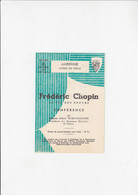 Andenne - Hotel De Ville - Frédéric Chopin - Conference Par Odette Turc-François - 1958 - Programs
